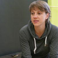 Schauspielerin Ueberschaer an unserer Schule 001